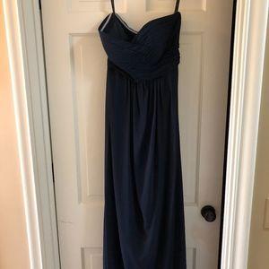 Bill Levkoff Navy Strapless Bridesmaid dress